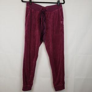 Victoria's secret womens velvet pants joggers M
